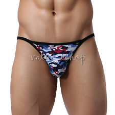 Sexy Men Camouflage Low Rise G String Bikini Briefs Underwear Swimwear T-Back XL