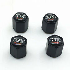 Black Style Car Tire Tyre Valve Stems Dust Cap Cover FOR Audi Parts Decoration
