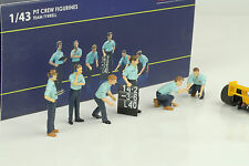Team Tyrrell Figuren Pit Crew Set 6 pcs Diorama Figur Figurines 1:43 TSM