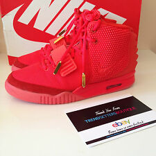 NIKE YEEZY 2 rojo nos OCTOBER AIR 9 Reino Unido 8 KANYE WEST 508214-660 Legit recibo 2014