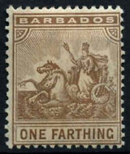 Barbados 1909 SG#163, 1/4d Brown MH #D31844