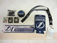 Tampa Bay Lightning Collectors Lot Stanley Cup Lanyard, Puck, Sticker, Pins, Etc