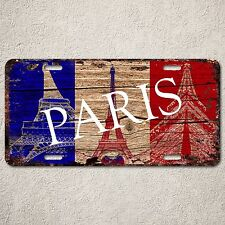 LP0178 Old Vintage France Eiffel Tower Sign Auto License Plate Home Gift Decor