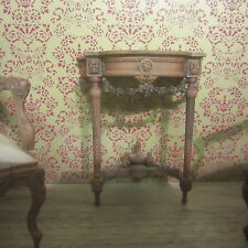 Dolls House 12th Small French Console Table 12th scale Chestnut AD16