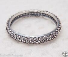 INSPIRATION WITHIN Authentic PANDORA Silver/CLEAR ZIRCONIA CZ Band~Ring 7/54 NEW