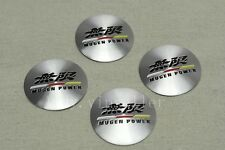 4Pcs For Silver Mugen Power Aluminum Alloy Car Wheel Center Caps Sticker Emblems