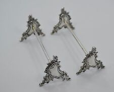 Pair of Art Nouveau Wolter Delhed Belgium 800 Silver Knife Rests Circa 1940