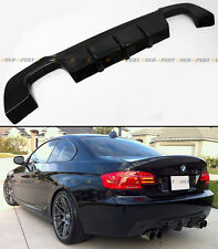 QUAD EXHAUST CARBON FIBER REAR DIFFUSER FOR 2007-13 BMW E92 E93 W/ M-TECH BUMPER