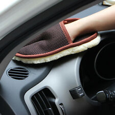 1*New Super Soft Skid Strong detergency Car Dedicated clean Imitation wool Glove