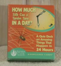 Sierra Club Knowledge Cards How Much Silk Can a Spider Spin in a Day