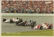 1991 Front Row Indianapolis 500 Postcard Rick Mears A.J. Foyt Mario Andretti