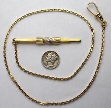 Victorian Style Long Pocket Watch Clip Chain 18 Inches Made in the USA