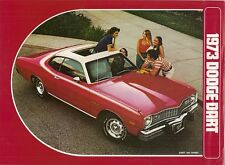 Dodge Dart 1973 USA Market Foldout Sales Brochure Sport 340 Swinger Custom