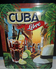 CUBA LIBRE COCKTAIL 20X15 CM RETRO-STYLE WALL  EMBOSSED SIGN. BAR/KITCHEN/PUB