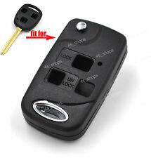 3 Button Flip Folding Key Upgrade Case Refit Shell For Toyota Land Cruiser Camry