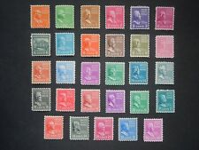 #803 - #831 1c thru 50c 1938 Presidential Issues MNH OG