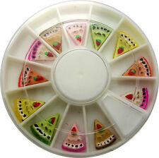 CAKE SLICE  IN WHEEL NAIL ART DECO DESIGN CRAFT NAILS 12 SLICES