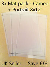 "A4-8x12""Silhouette Cameo Portrait cutting mat x3 Pack! economy Carrier sheets"