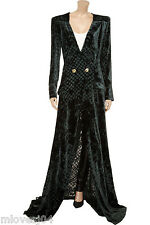 Balmain Velvet Burnout Gown Long Velvet Robe  Dress New BNWT 8 IT 40 FR 36 £2552