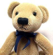 "Teddy Museum 2003 LE #25 Mohair Tan Bear Blue Bow 12"" Jointed Plush NEW"