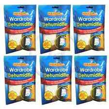 6 x Home Wardrobe Hanging Dehumidifier Wet Damp Mould Mildew Moisture Remover