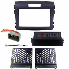 Radio Replacement Dash Mounting Kit 2-DIN w/Pocket & Harness/Antenna for Honda