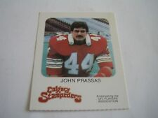 VINTAGE 1981 RED ROOSTER CFL FOOTBALL JOHN PRASSAS CARD***CALGARY STAMPEDERS***