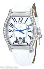 Juicy Couture Women's MOP Dial White Leather Strap Watch