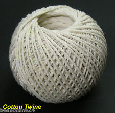82 Metre Roll x White Cotton Twine / Cooking Twine String Natural
