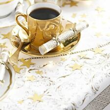 PARTY PORCELAIN PAPER TABLE COVER GOLD WEDDING XMAS CHRISTMAS