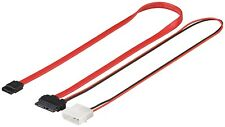 S-ATA SlimLine Adapter Kabel SATA 2in1 Datensignal Slim Line + Stromadapter 0,5m