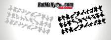 URBAN CAMO RACE GRAPHICS - URBAN CAMOUFLAGE DECALS STICKER PACK OF 60 VERY SMALL
