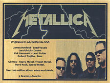 METALLICA SUBLIMATED GOLD METAL MEGA PLAQUE FOR FRAMING