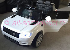 WHITE 2017 RANGE ROVER SPORT HSE STYLE 12V ELECTRIC KIDS CHILDS RIDE ON JEEP CAR