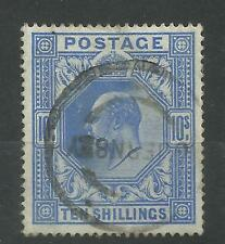 1911/13 Somerset House Sg 319, 10/- Blue, Fine used