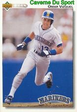 401 OMAR VIZQUEL SEATTLE MARINERS  BASEBALL CARD UPPER DECK 1992