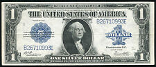"""1923 $1 ONE DOLLAR """"HORSEBLANKET"""" SILVER CERTIFICATE EXTREMELY FINE+"""