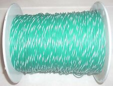 Machine Tool Wire #18 Gauge Electrical Wire Green and White 8lb 4oz