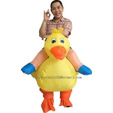 Halloween Inflatable Duck Costume for Adult Yellow Color Cosplay Costume For Men