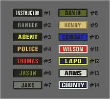 Custom NAME TAPE 1X4 EMBROIDERY CUSTOM NAMES hook hook on back on back