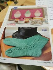 Quick Easy Men's Socks, Cupcake Picture & Toy Knitting Pattern