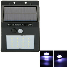 16 LED Solar Power PIR Motion Sensor Wall Light Outdoor Garden Lamp Waterproof