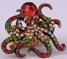 Octopus stretch ring cute animal bling scarf jewelry gift 1 dropshipping red