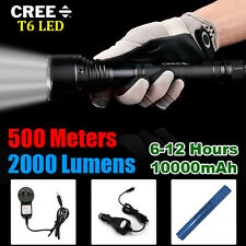 500 meter 2000 lumen CREE XML T6 LED Flashlight Torch + Battery,Wall Car Charger