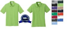 150 SOIL RELEASE PIQUE Custom Embroidered Mens / Ladies FREE LOGO POLO SHIRTS