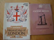 HISTORICAL MAP LONDON & ANCIENT BRITAIN SOUTH SHEET OLDER THAN 1066 A.D. 1964