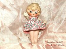 ANTIQUE JAPAN 1930's BISQUE FROZEN CHARLOTTE JOINTED ARMS MINIATURE DOLL