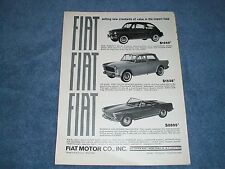 """1964 Fiat 600D 1100D 1500 Spider Ad """"Setting New Standards of Value..."""""""
