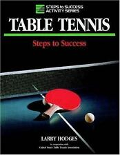 Table Tennis: Steps to Success (Steps to Success Activity Series)-ExLibrary