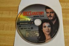 Greys Anatomy Third Season 3 Disc 5 Replacement DVD Disc Only*